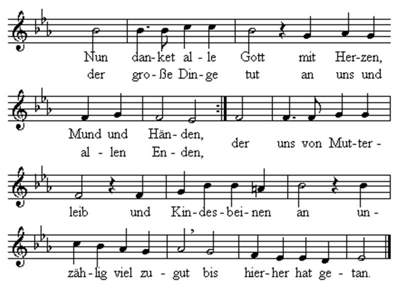 Lied 321 Nun danket alle Gott