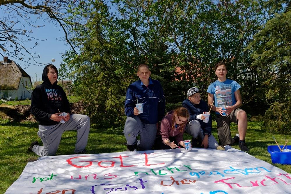 Wegeziner Kinder & Jugendliche gestalten Hoffnungszeichen