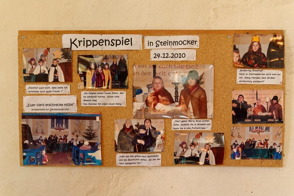 Krippenspiel Erinnerungen von 2010 in der Kirche in Steinmocker