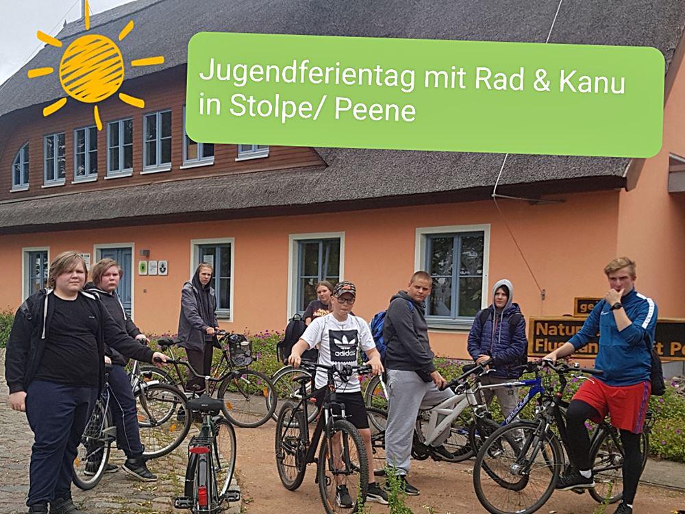 Mit dem Fahrrad nach Stolpe zum Informationszentrum Naturpark Flusslandschaft Peenetal