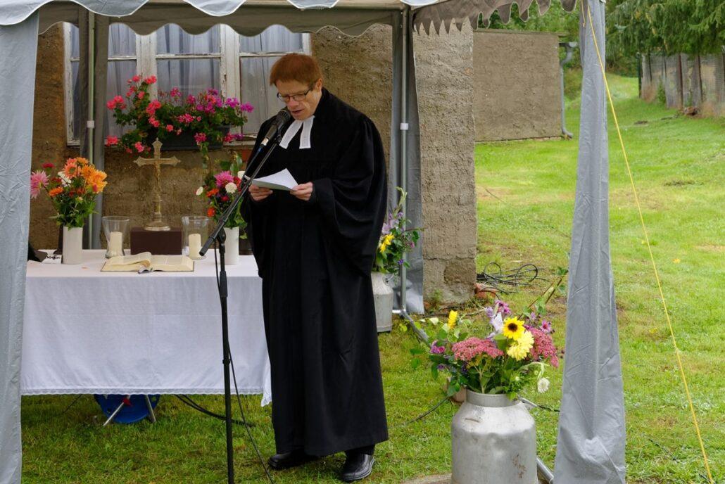 Pastor Andreas Behrens sprach die Predigt zum Festgottesdienst