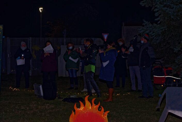 Unterwegs mit dem Weihnachtslicht am 04.12.2020 in Krien