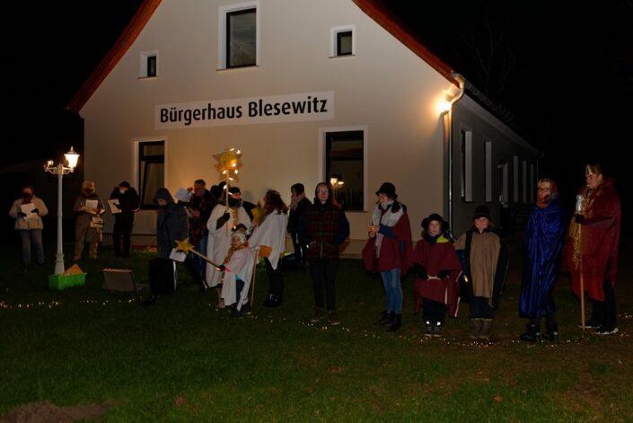 Unterwegs mit dem Weihnachtslicht am 09.12.2020 in Blesewitz