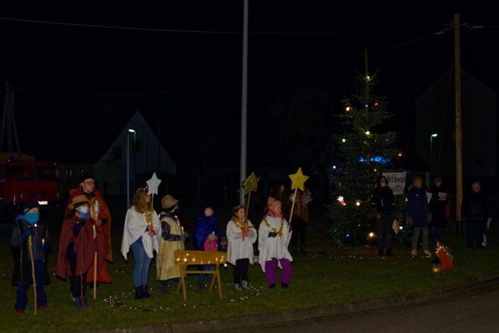 Unterwegs mit dem Weihnachtslicht am 11.12.2020 in Iven