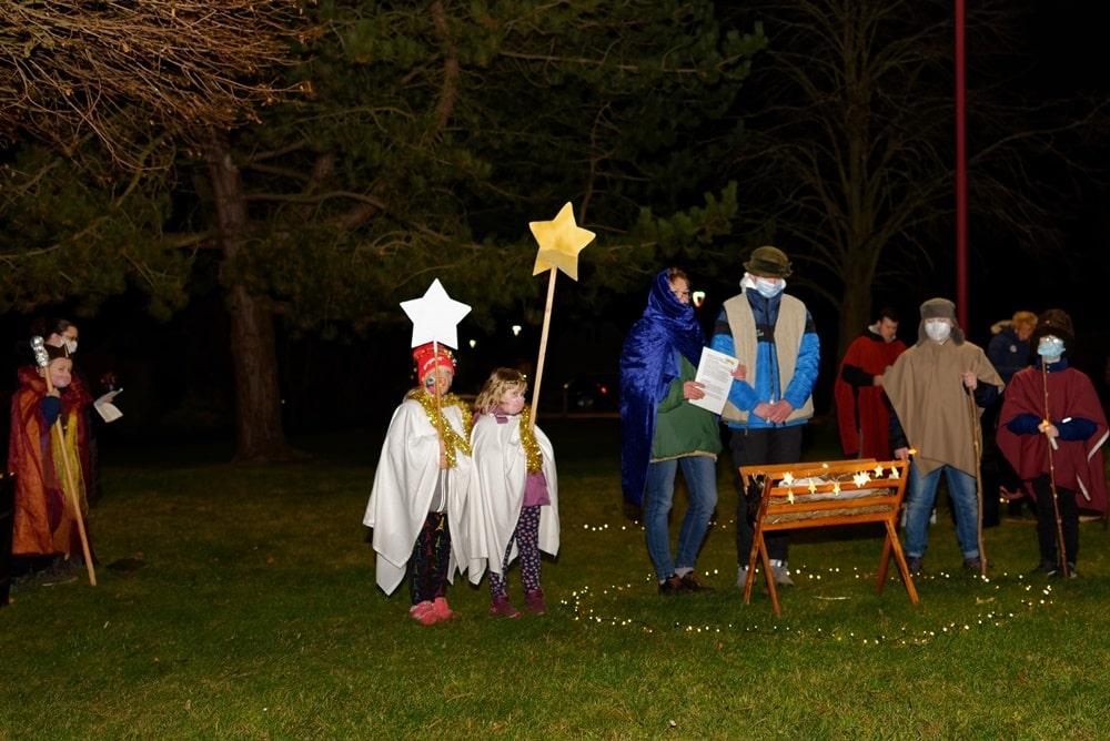 Unterwegs mit dem Weihnachtslicht am 16.12.2020 in Krusenfelde