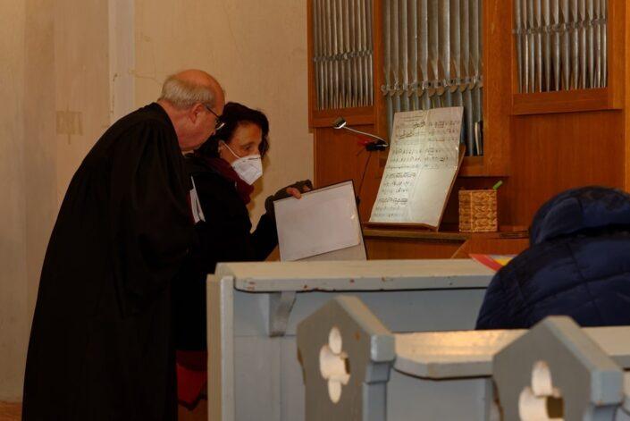 Heiligabend 2020 in der Kirche in Wegezin