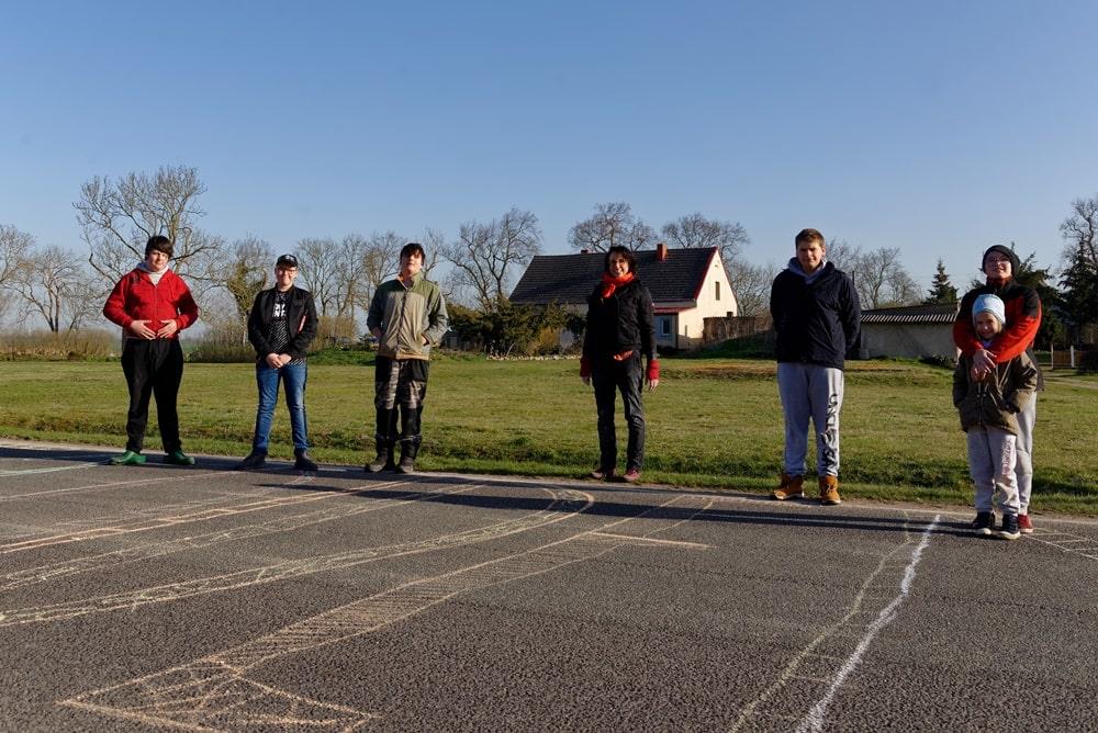 Wegezin um 08:00 mit: Markus, Lucas, Lucy, Alisha, David und Christopher