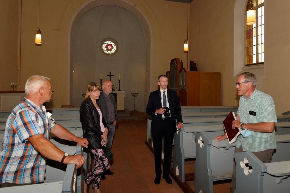 Sommertour des CDU Arbeitskreises Finanzen in der Wegeziner Kirche