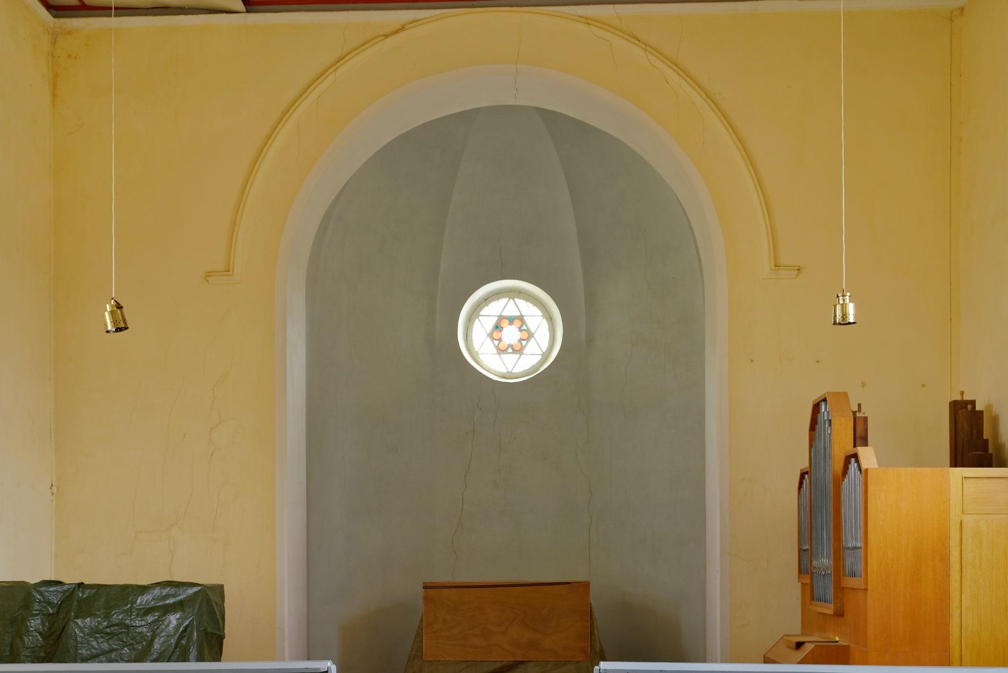 Kirche Wegezin Apsis am 14.07.2019
