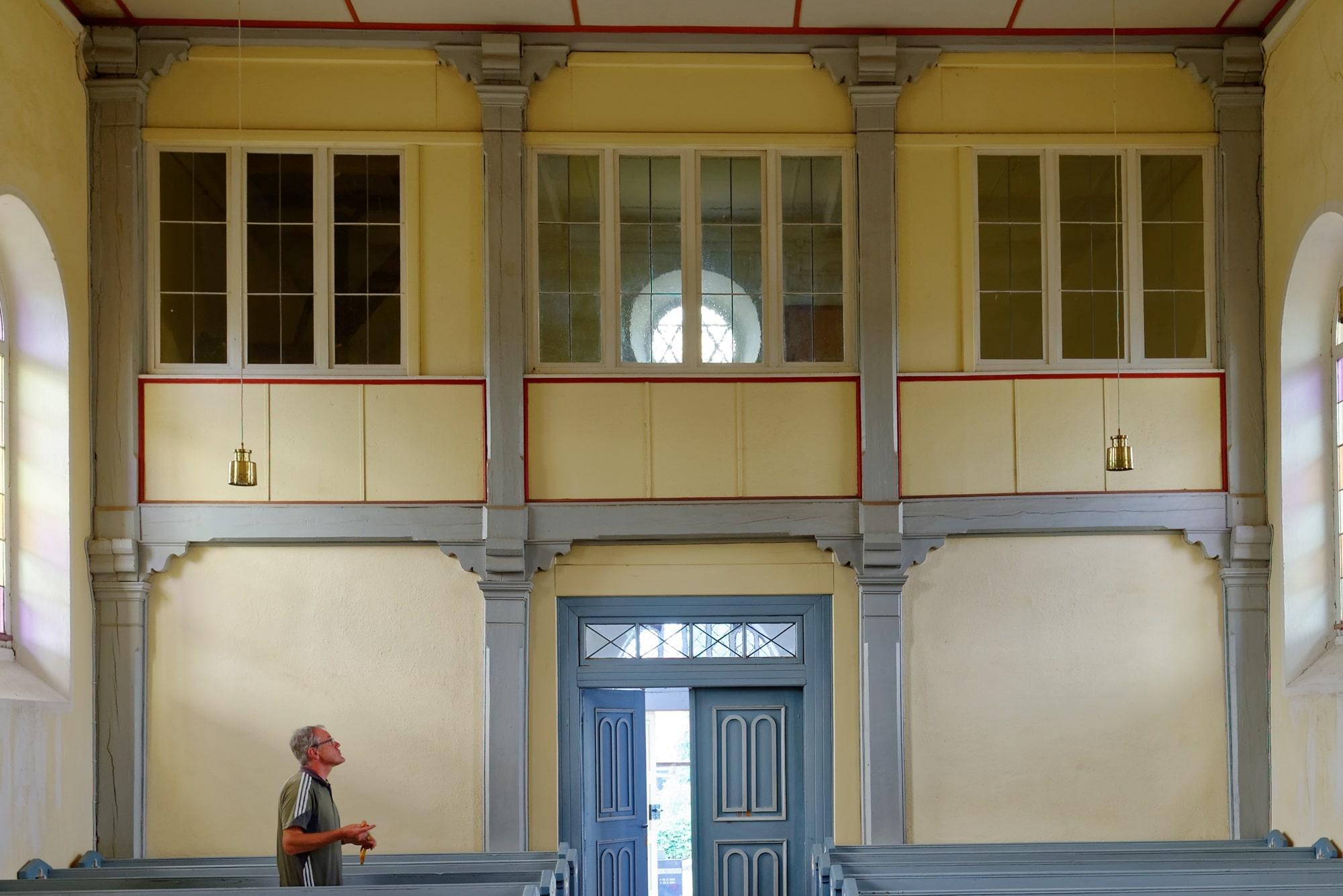 Kirche Wegezin Empore am 14.07.2019