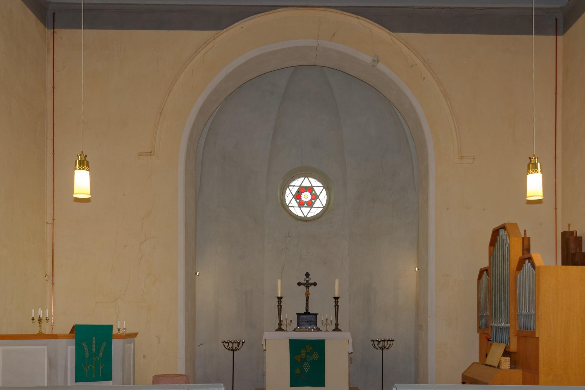 Kirche Wegezin Apsis am 07.10.2021