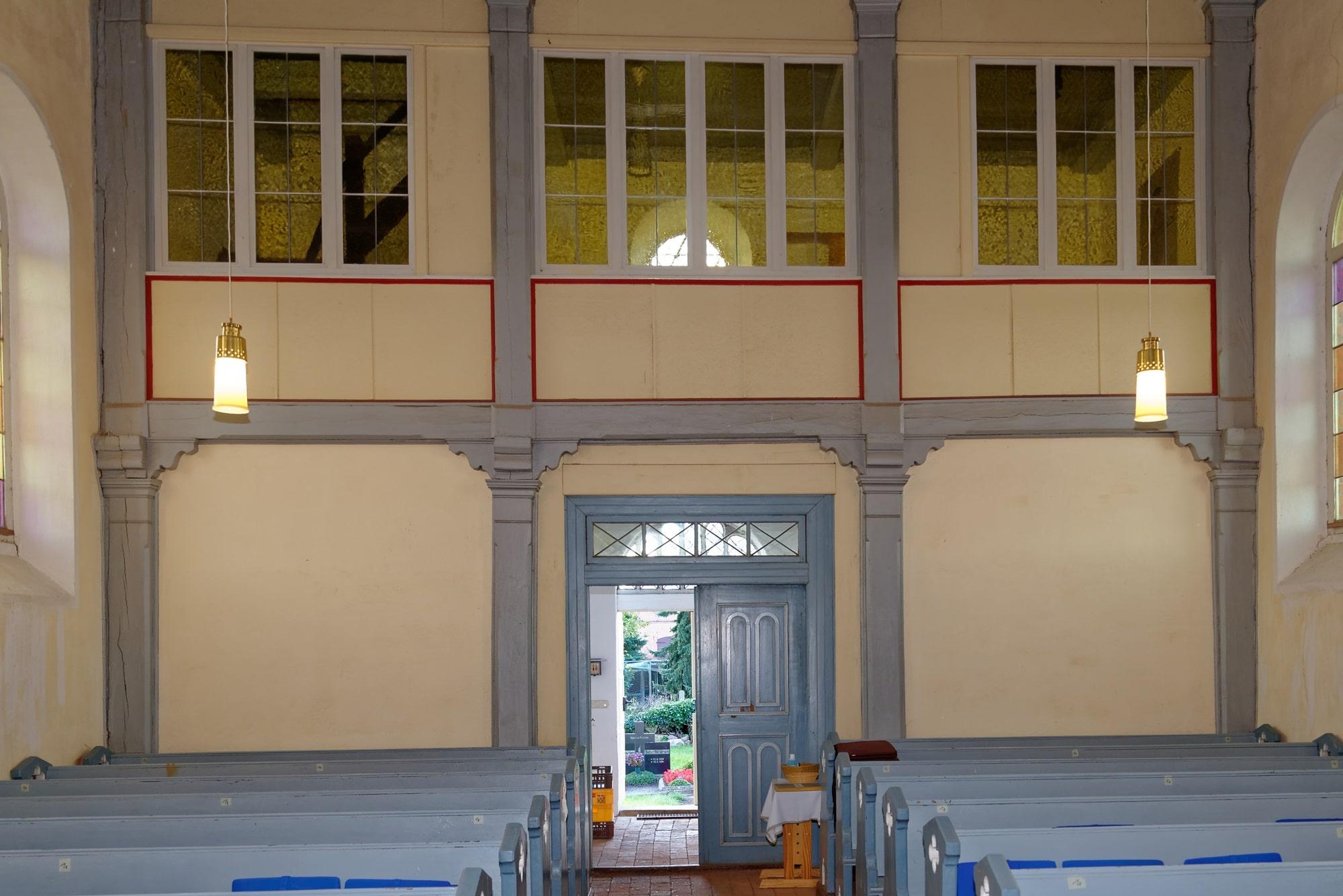 Kirche Wegezin Empore am 07.10.2021