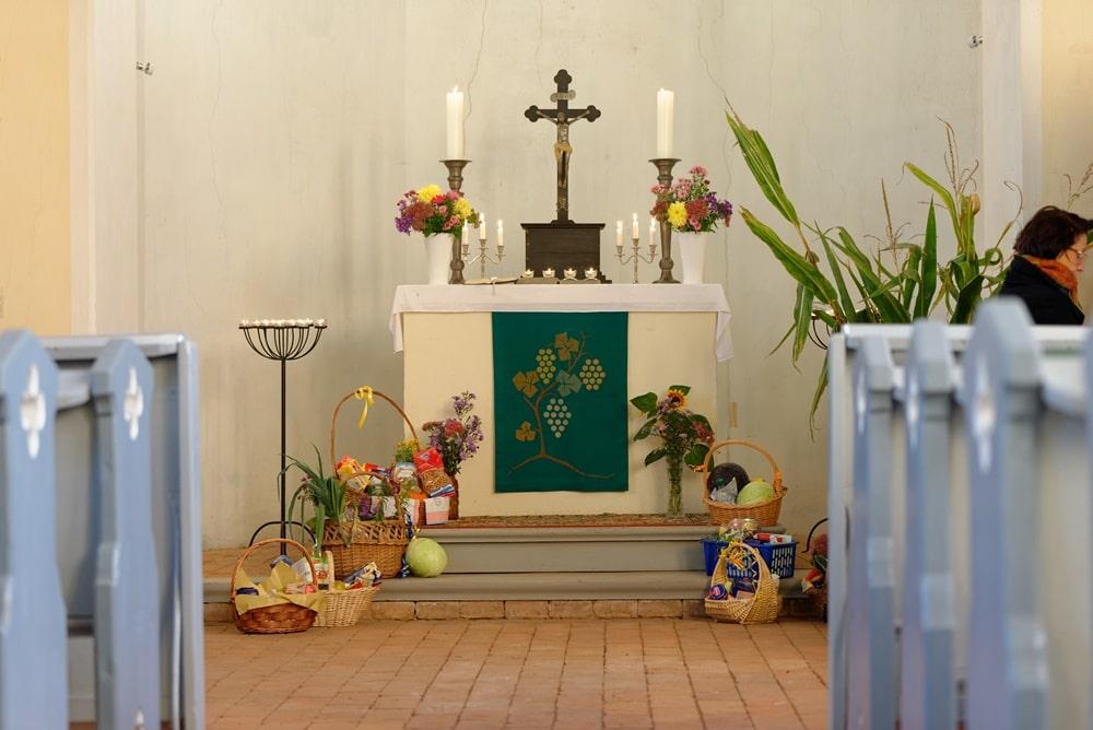 Erntedankfest 2021 in der Kirche in Wegezin